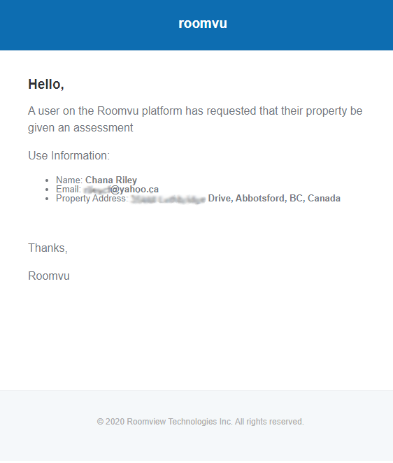 home assessment email
